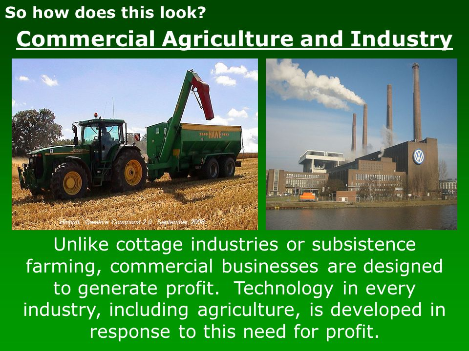 Commercial Agriculture and Industry