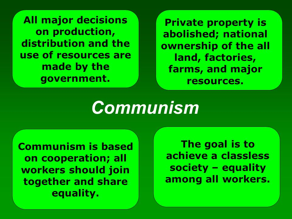 All major decisions on production, distribution and the use of resources are made by the government.