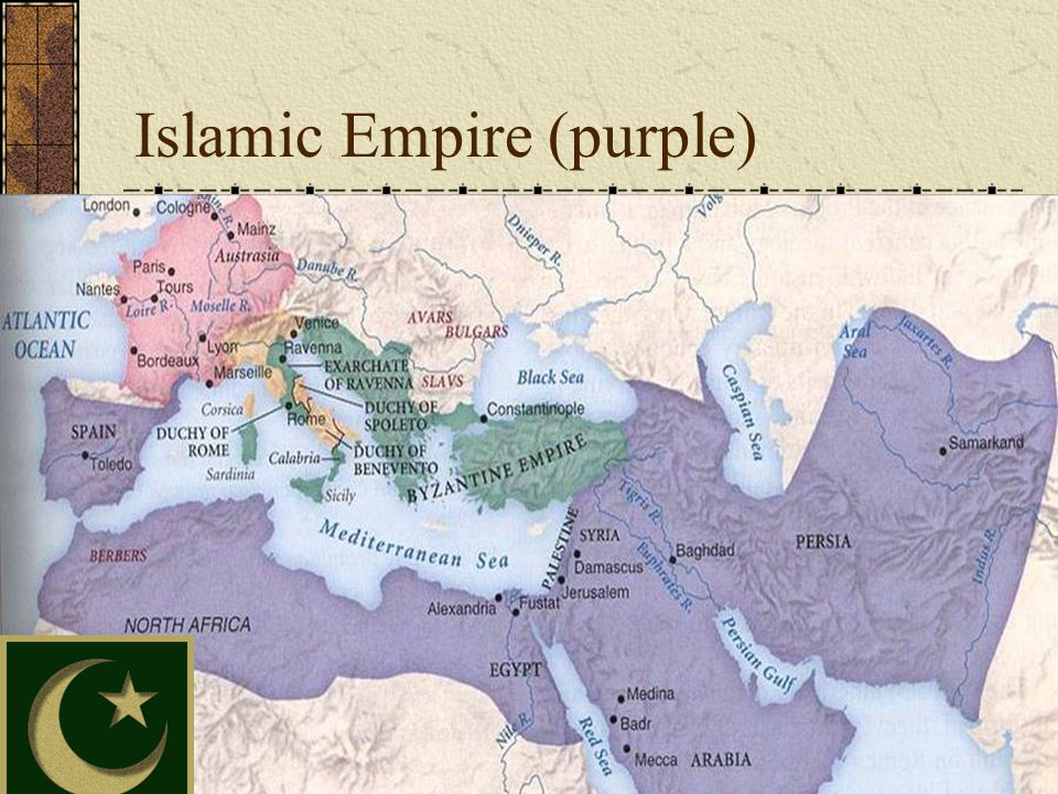 Islamic Empire (purple)