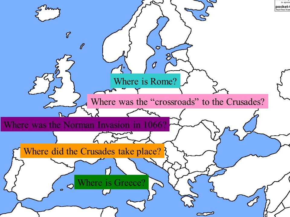 Where was the crossroads to the Crusades