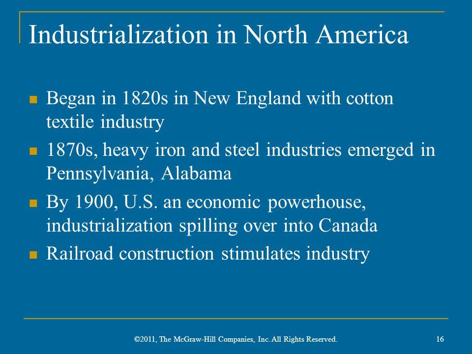 Industrialization in North America
