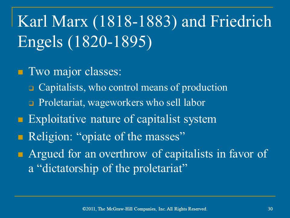 Karl Marx (1818-1883) and Friedrich Engels (1820-1895)