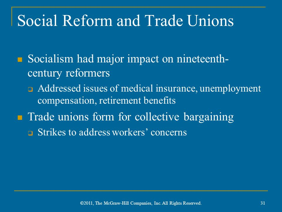 Social Reform and Trade Unions