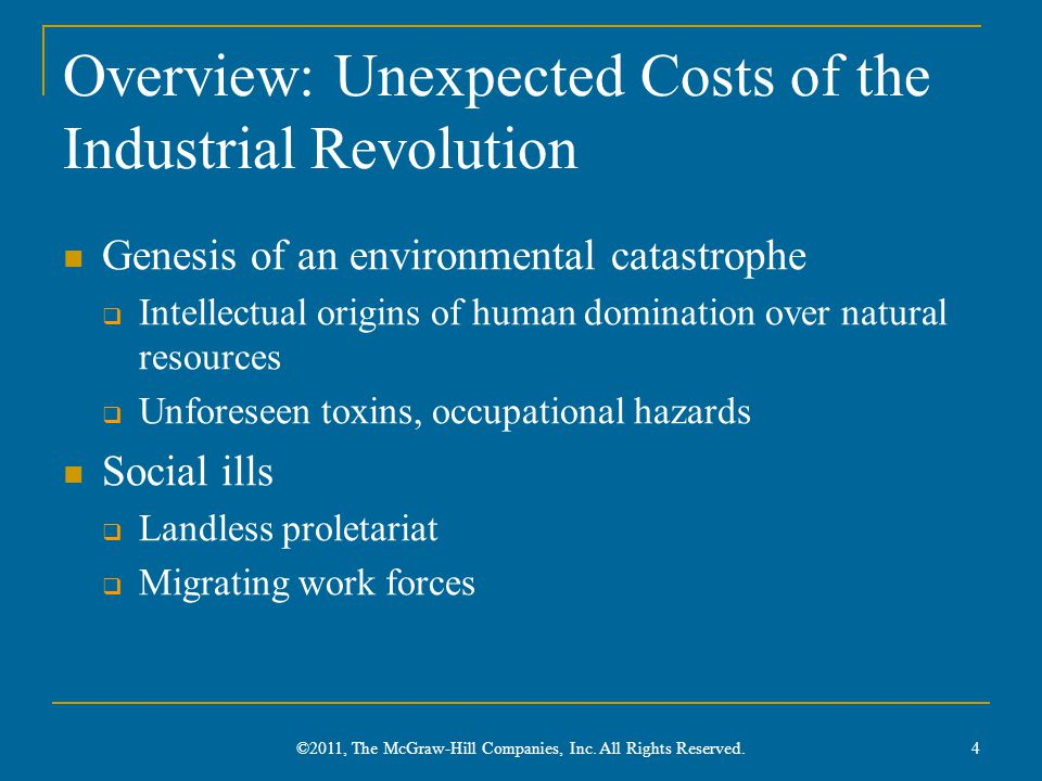Overview: Unexpected Costs of the Industrial Revolution