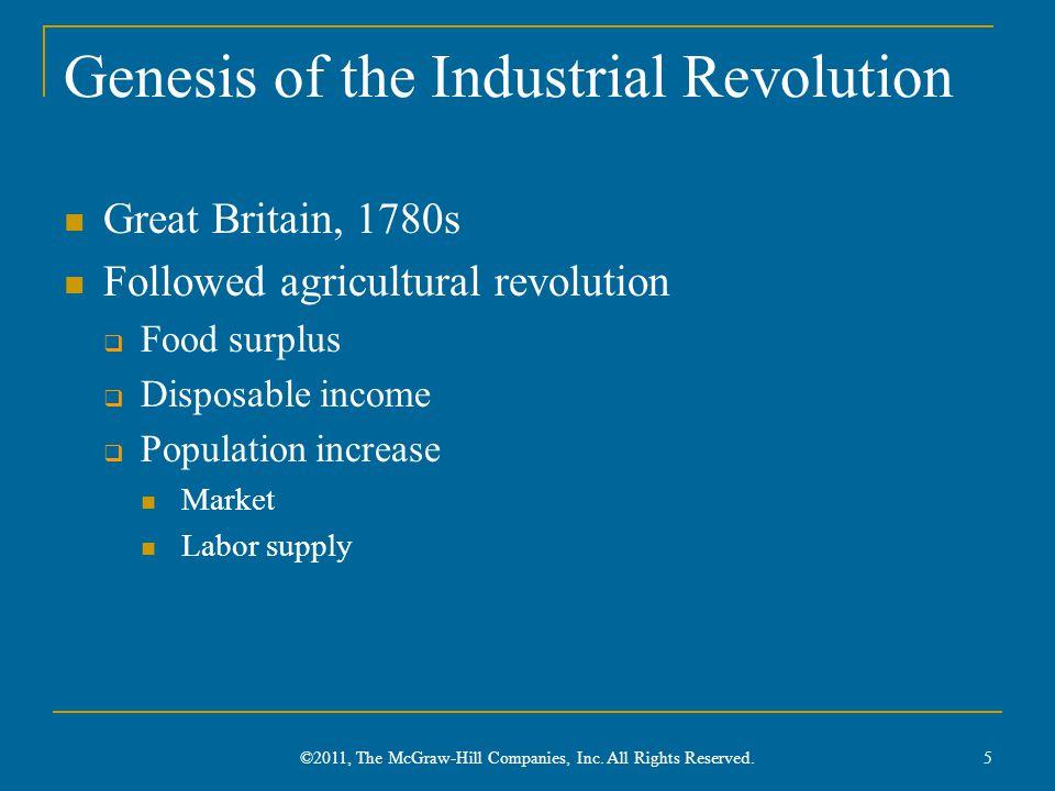 Genesis of the Industrial Revolution