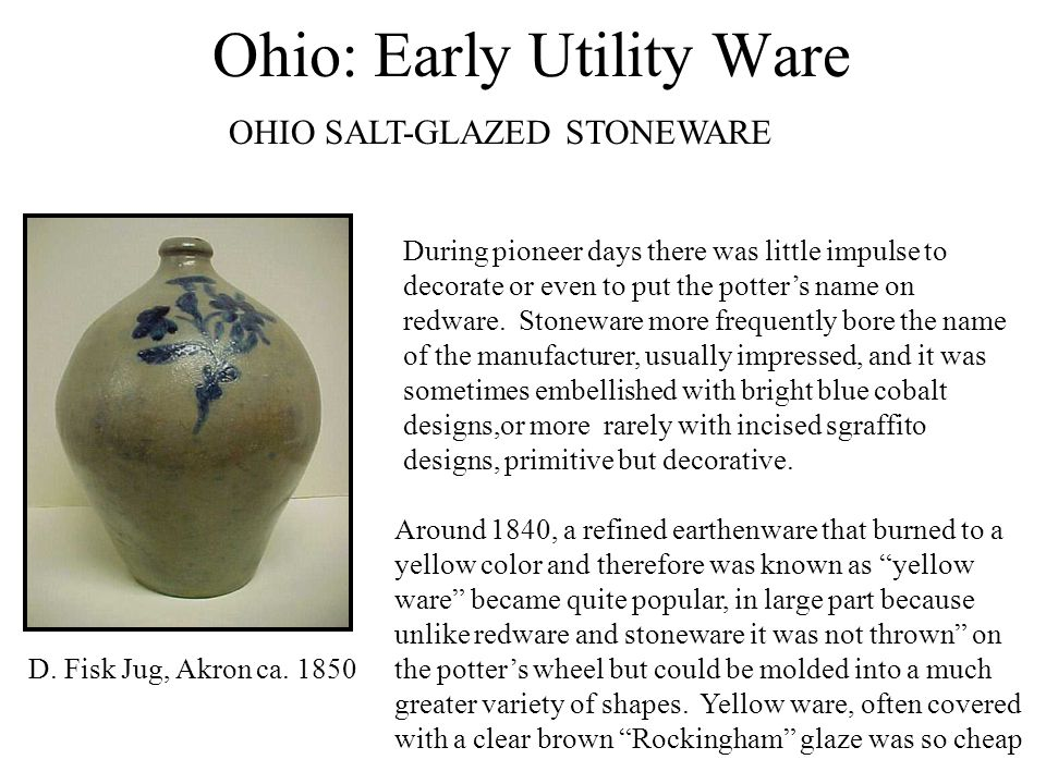 Ohio: Early Utility Ware