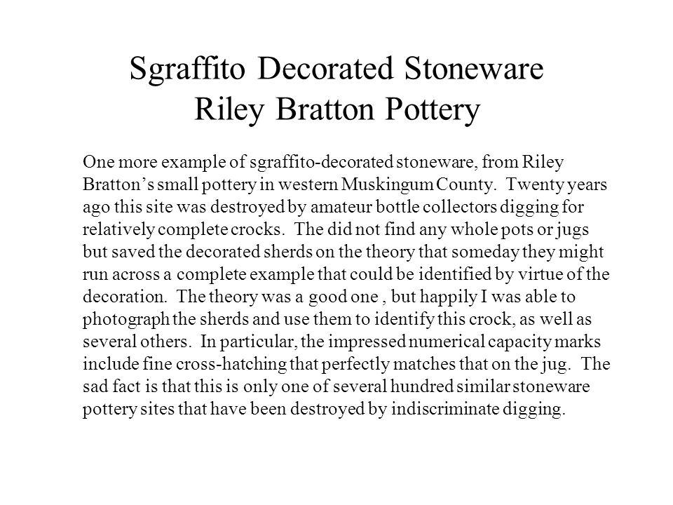 Sgraffito Decorated Stoneware Riley Bratton Pottery