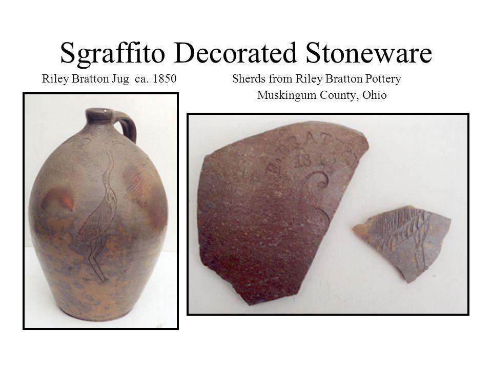 Sgraffito Decorated Stoneware