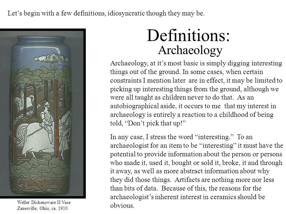 Definitions: Archaeology