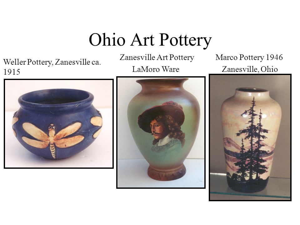 Ohio Art Pottery Zanesville Art Pottery LaMoro Ware Marco Pottery 1946