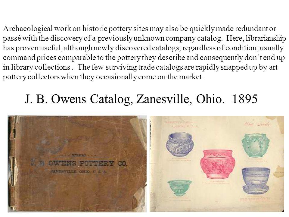 J. B. Owens Catalog, Zanesville, Ohio. 1895