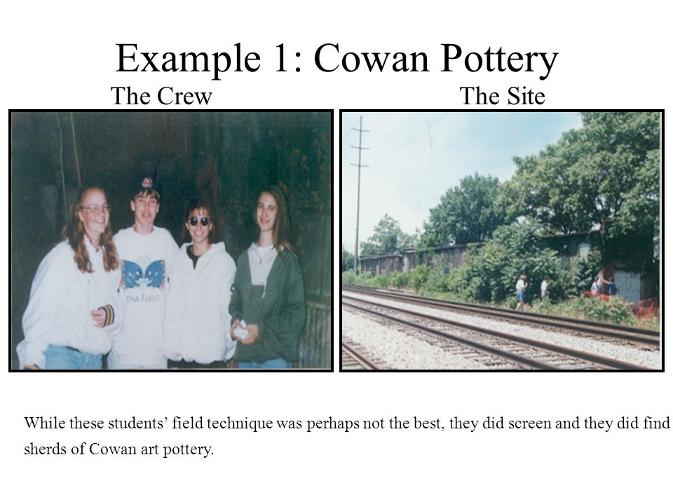 Example 1: Cowan Pottery
