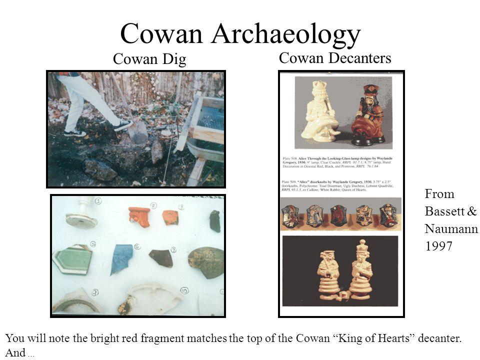 Cowan Archaeology Cowan Decanters Cowan Dig From Bassett & Naumann