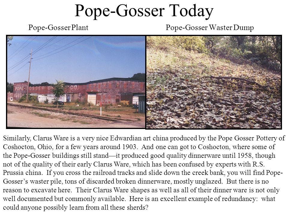 Pope-Gosser Today Pope-Gosser Plant Pope-Gosser Waster Dump