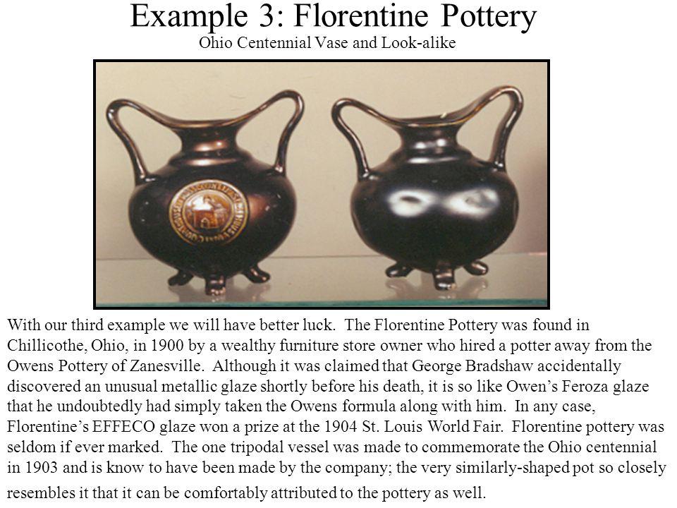 Example 3: Florentine Pottery