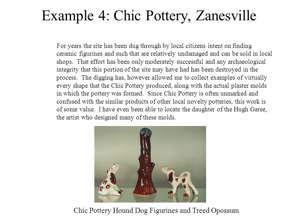 Example 4: Chic Pottery, Zanesville