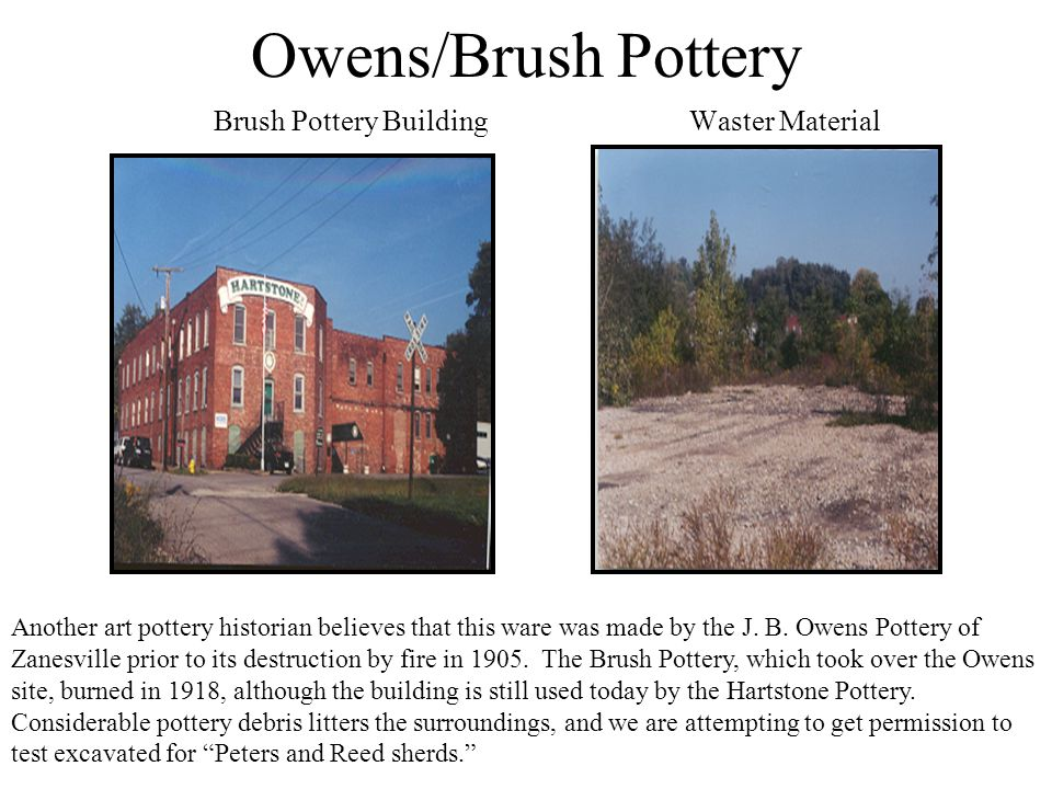 Owens/Brush Pottery Brush Pottery Building Waster Material