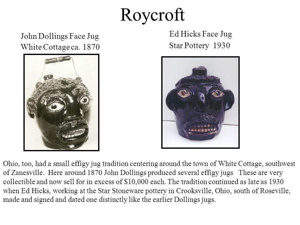 Roycroft Ed Hicks Face Jug John Dollings Face Jug Star Pottery 1930