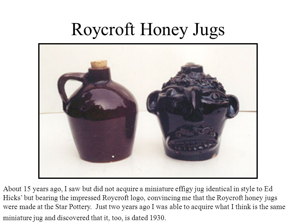 Roycroft Honey Jugs