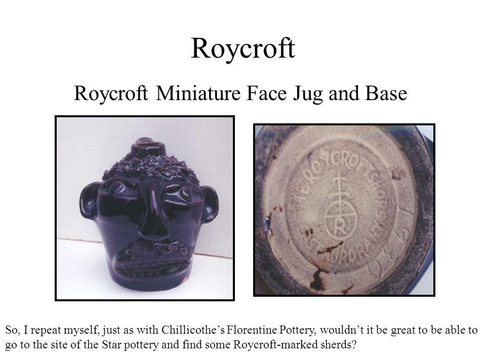 Roycroft Roycroft Miniature Face Jug and Base