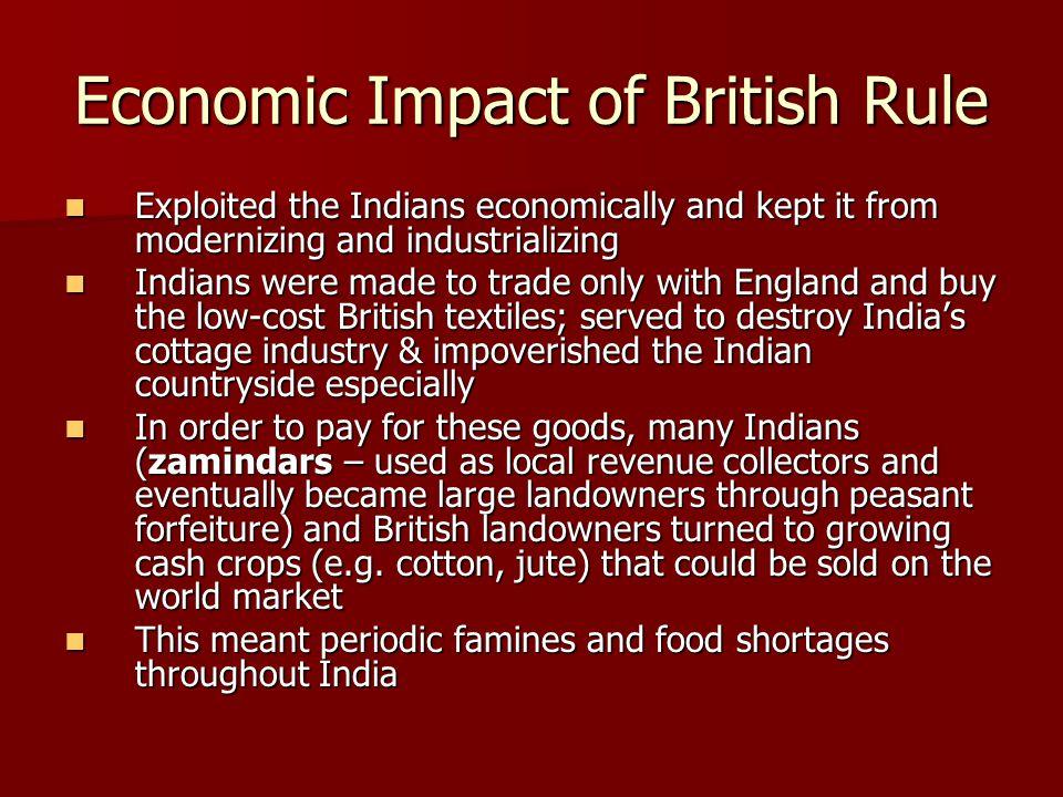 Economic Impact of British Rule