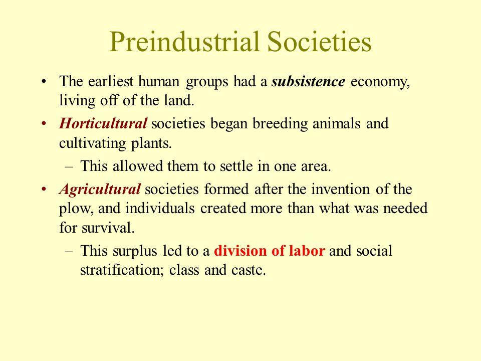 Preindustrial Societies