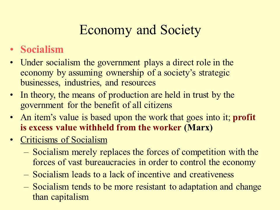 Economy and Society Socialism