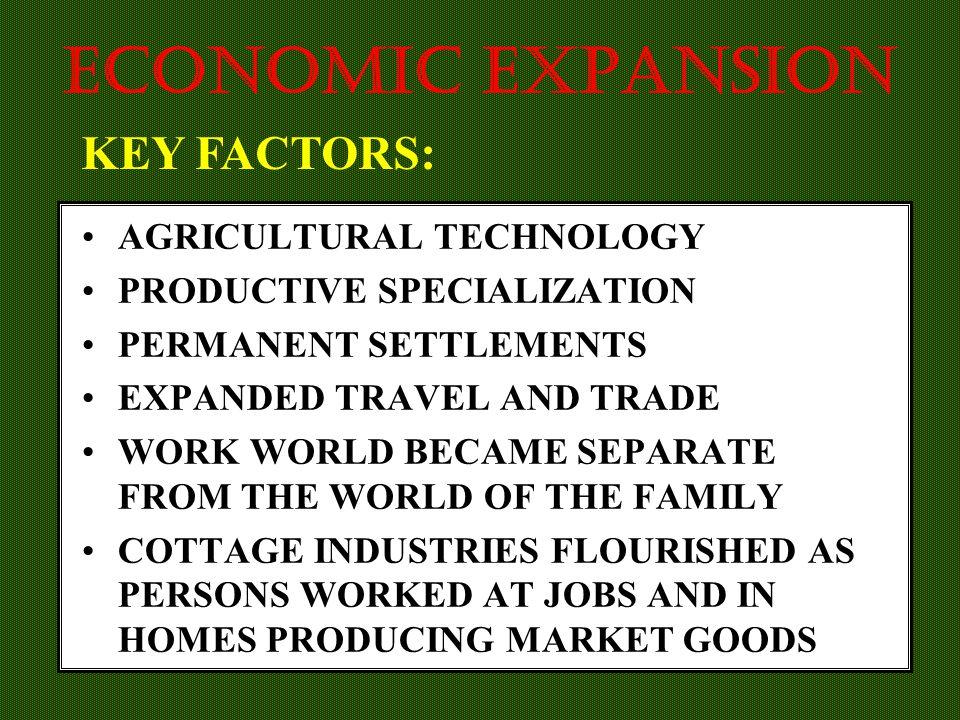 ECONOMIC EXPANSION KEY FACTORS: AGRICULTURAL TECHNOLOGY