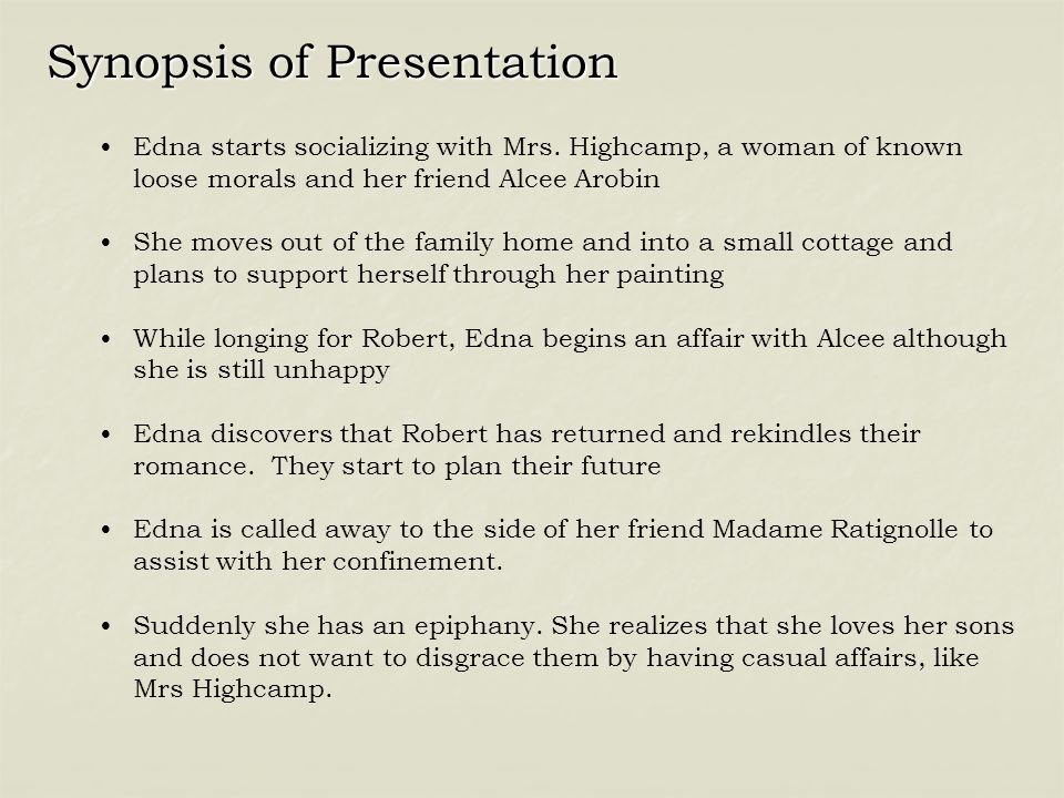Synopsis of Presentation