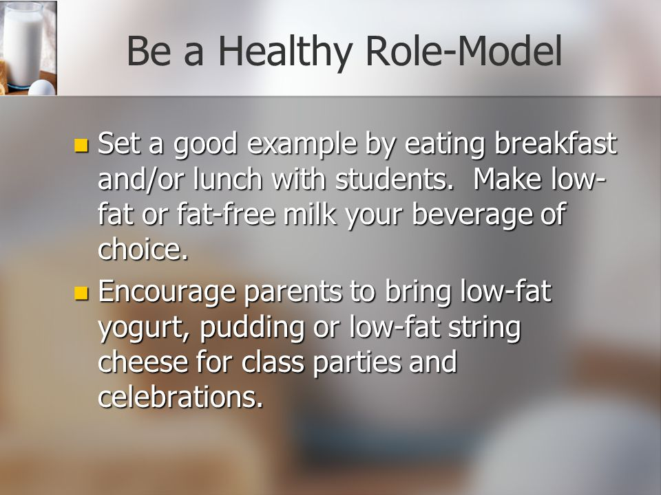 Be a Healthy Role-Model
