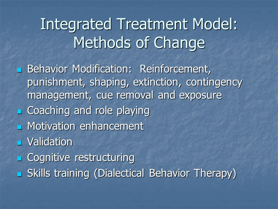 Integrated Treatment Model: Methods of Change