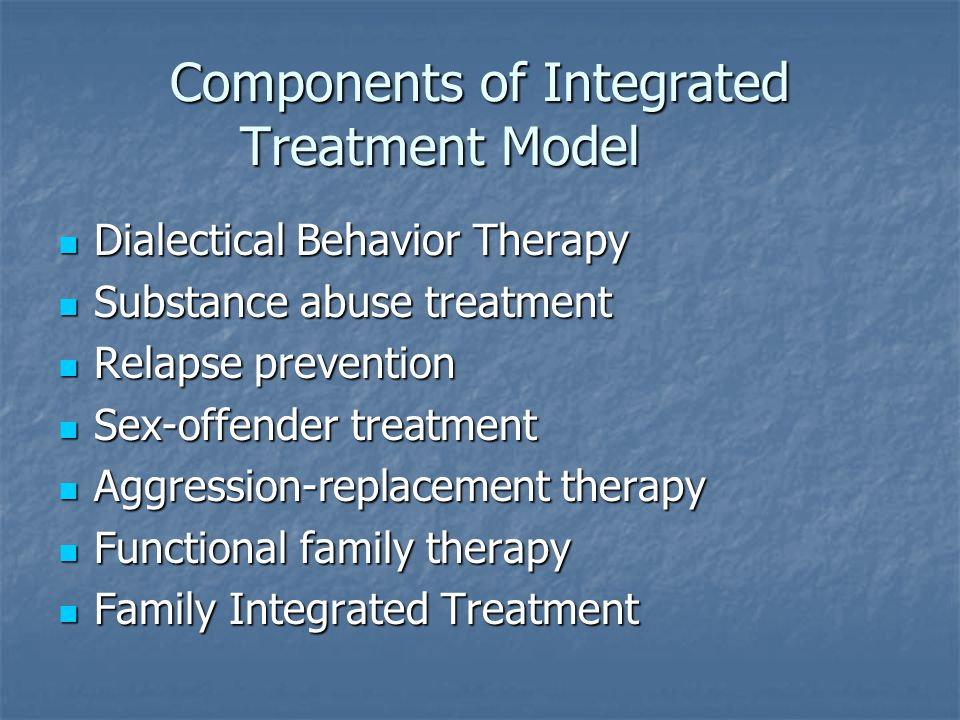 Components of Integrated Treatment Model