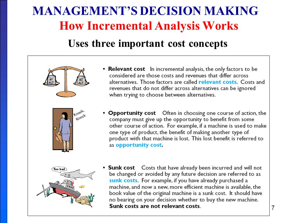 MANAGEMENT'S DECISION MAKING How Incremental Analysis Works