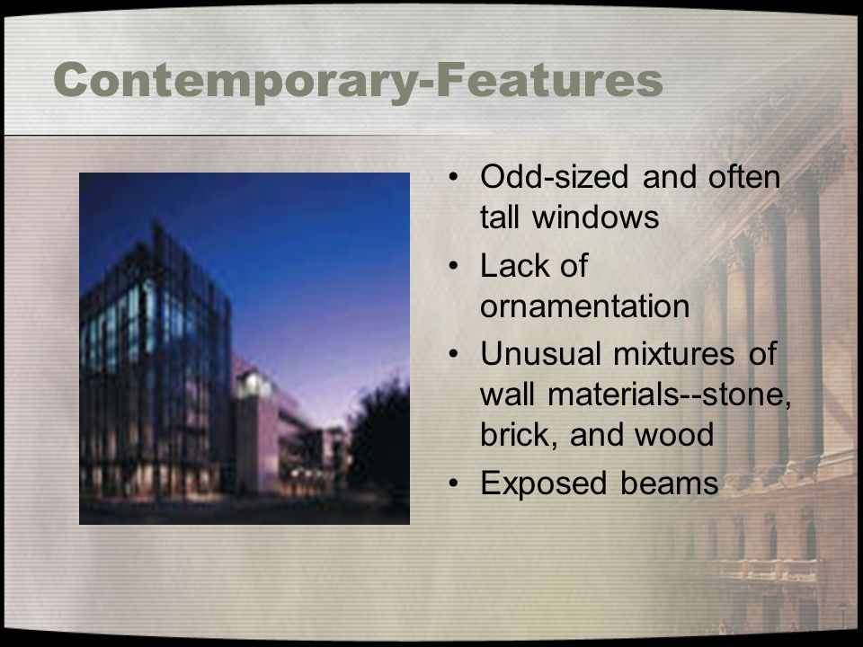 Contemporary-Features