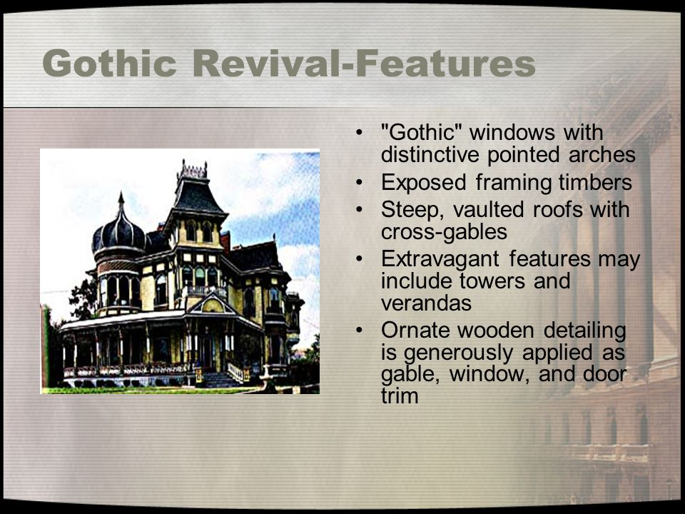 Gothic Revival-Features