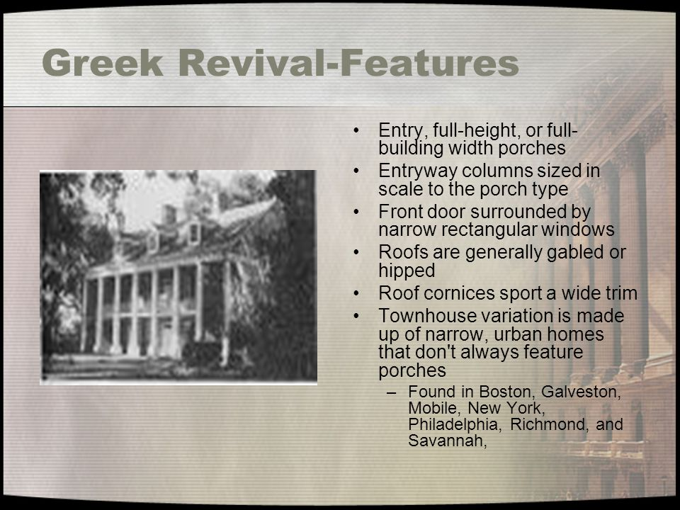 Greek Revival-Features