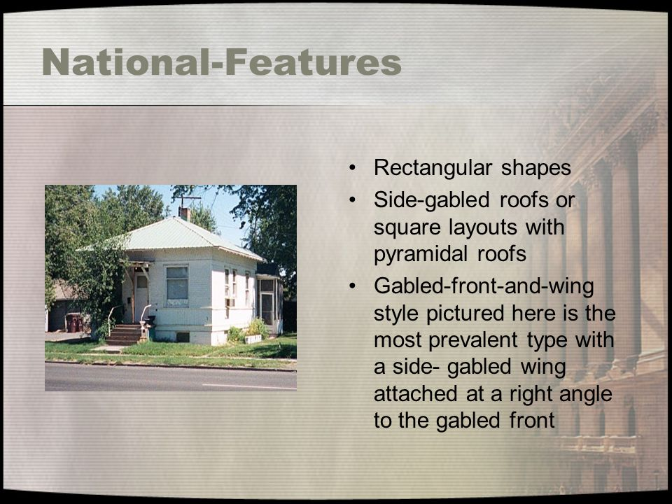 National-Features Rectangular shapes