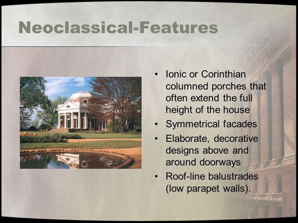 Neoclassical-Features