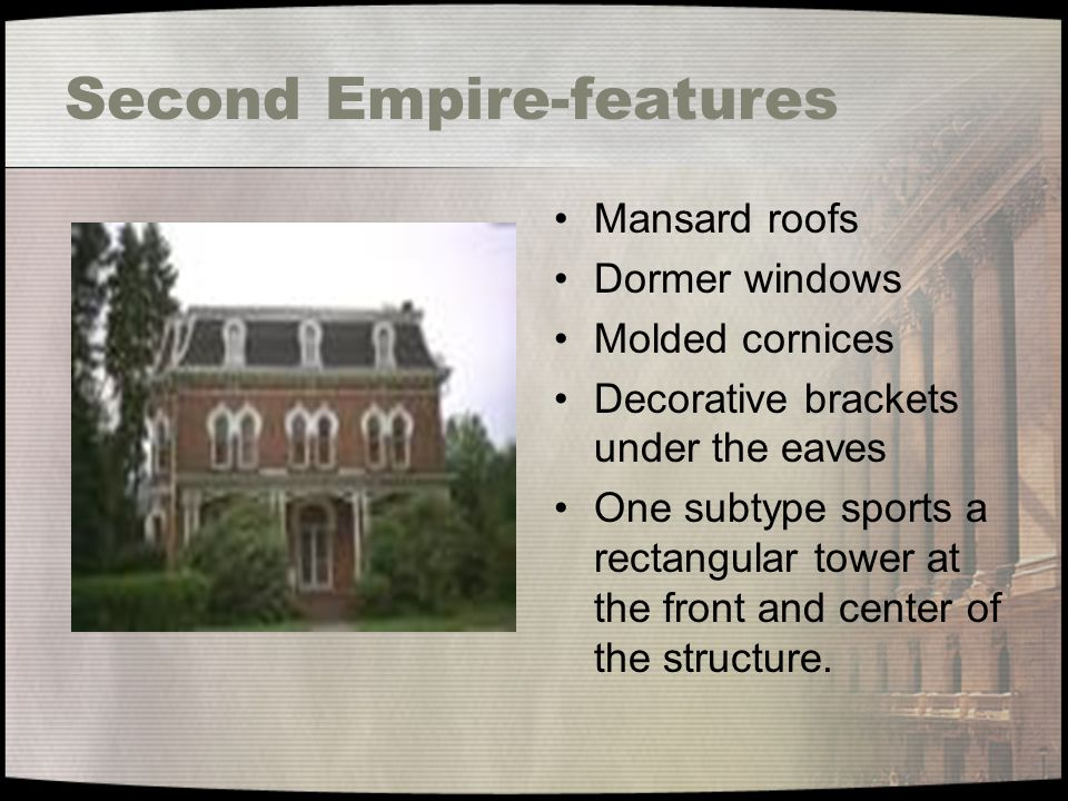 Second Empire-features