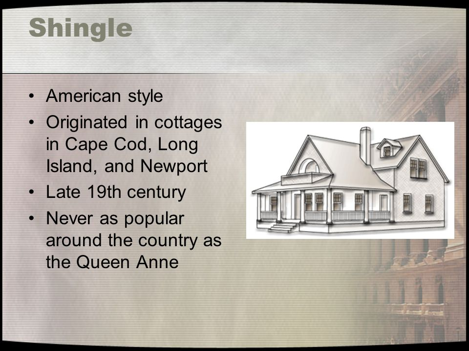 Shingle American style