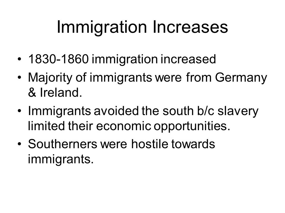 Immigration Increases