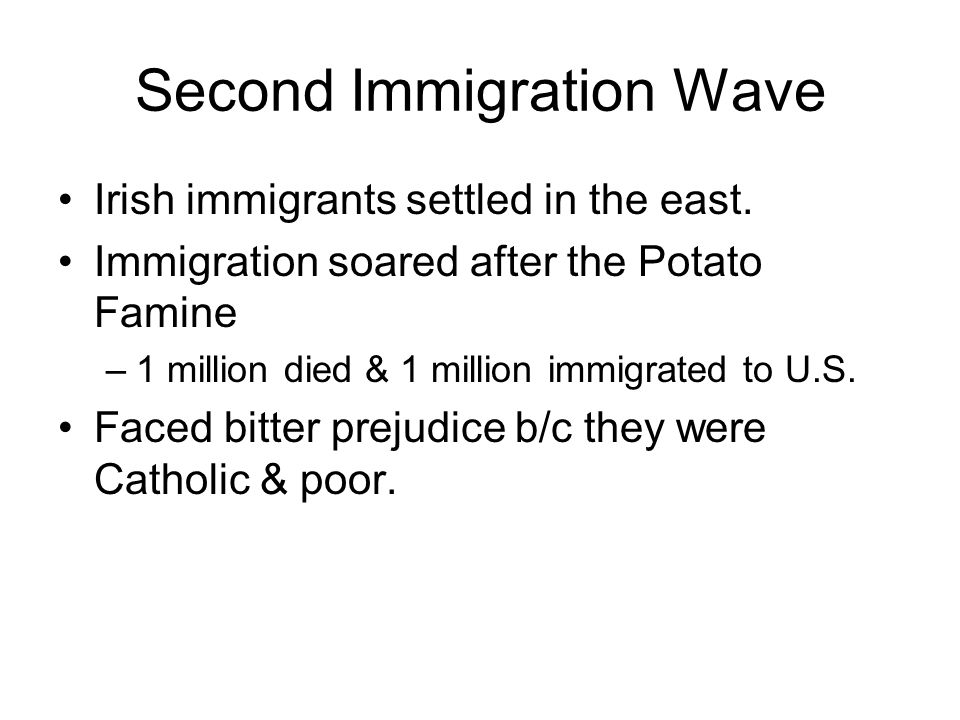 Second Immigration Wave