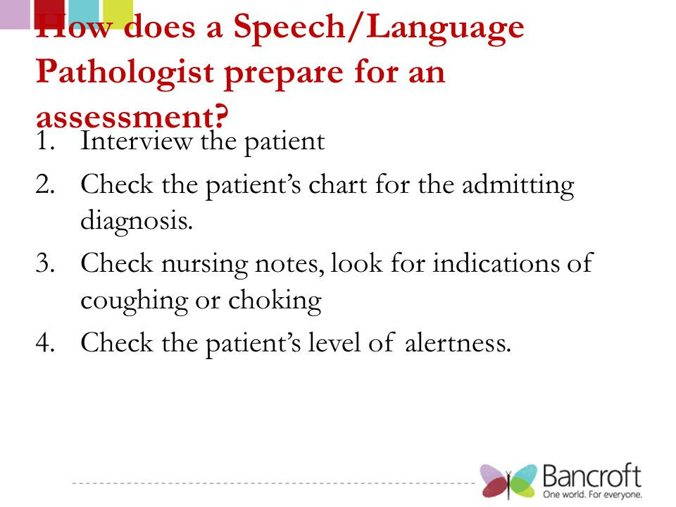 How does a Speech/Language Pathologist prepare for an assessment