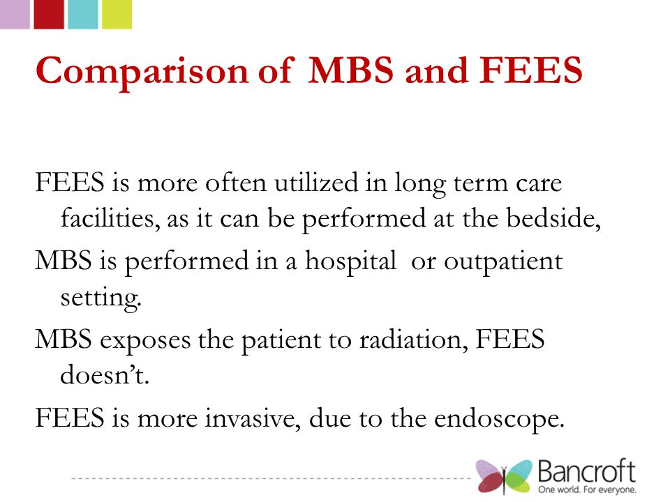Comparison of MBS and FEES