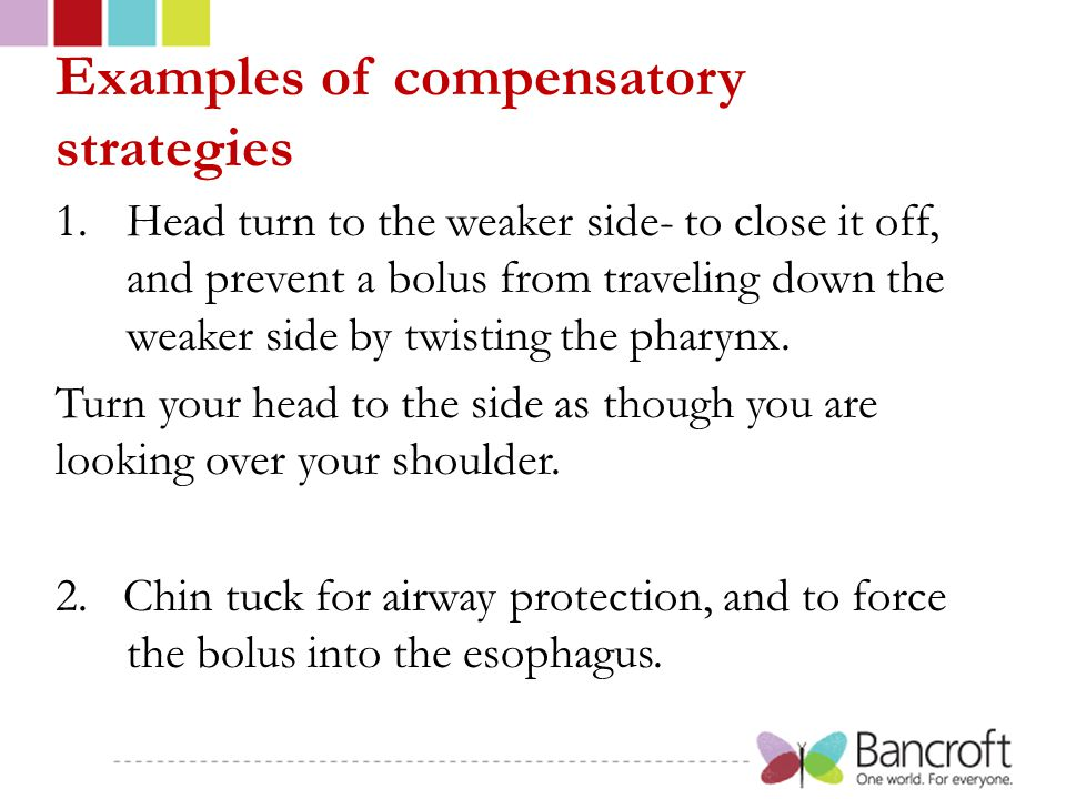 Examples of compensatory strategies