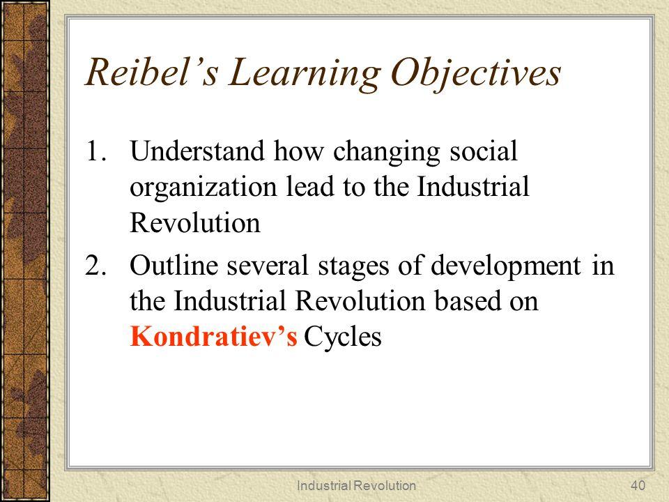 Reibel's Learning Objectives
