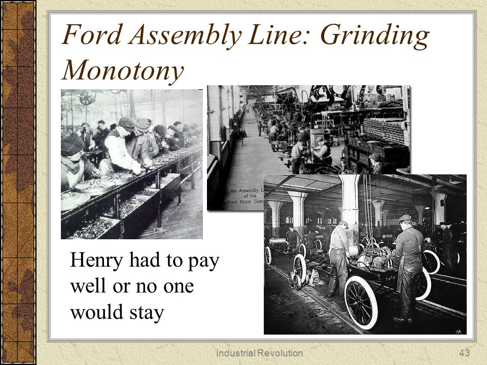 Ford Assembly Line: Grinding Monotony