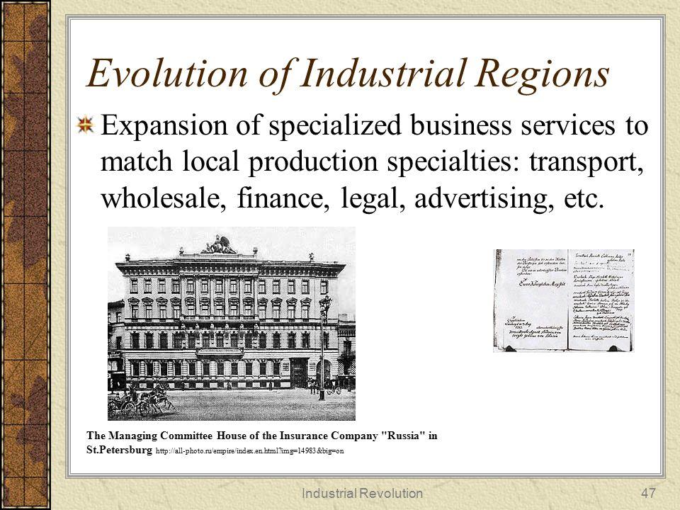 Evolution of Industrial Regions