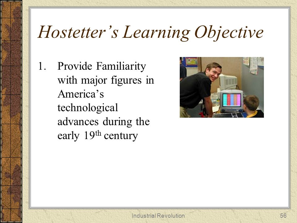 Hostetter's Learning Objective