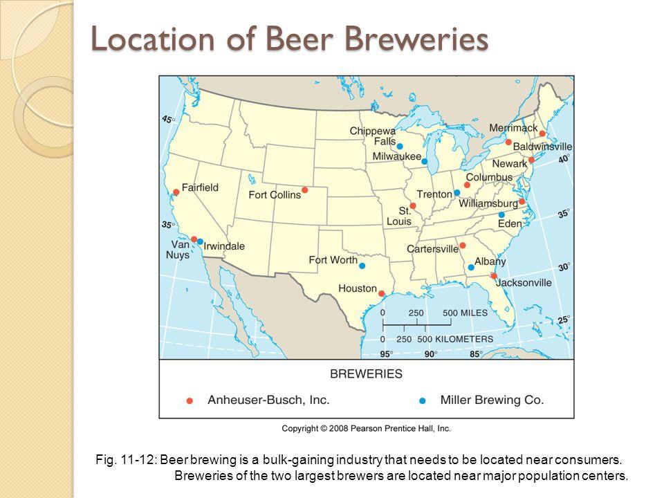 Location of Beer Breweries